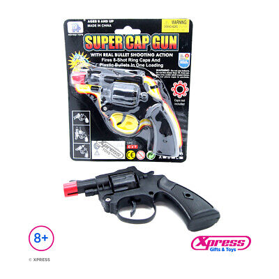 Super Cap Gun Traditional 8 Shot Boys Toy Present Gift Birthday Party Bag Filler • 2.29£