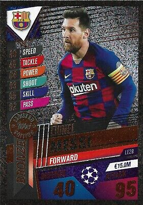Match Attax 101 2019/20 Lionel Messi Bronze Limited Edition Le2b • 2.95£