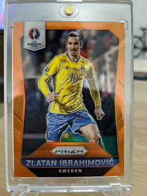 AU1942.74 • Buy 2016 Panini Euro Prizm ZLATAN IBRAHIMOVIC SSP Jersey Number 10/20 Orange SWEDEN