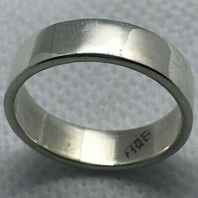 Simple 5MM 925 Sterling Silver Taxco Mexico Rings, Men Women Thin Band  Ring • 14.30£