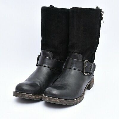 Clarks 66575 Majorca Isle Boot Belted Motorcycle Mid Calf Leather Boots Sz 7.5 • 50.98£