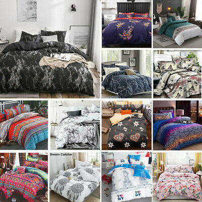 AU34.80 • Buy 2021 New Soft Doona Duvet Quilt Cover Set Single Double Queen King Size Bed