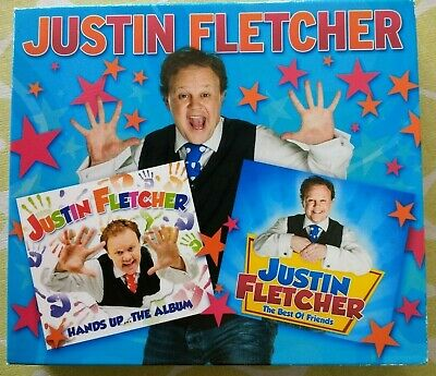 JUSTIN FLETCHER Hands Up / Best Of Friends DOUBLE CD SLIPCASE Mr Tumble 2013 EX • 12.99£