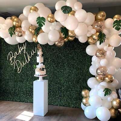 $7.99 • Buy Wedding Birthday Party Decorations White Gold Arch Kit Set Balloons Baby Shower
