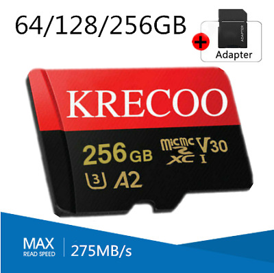$9.99 • Buy 64GB 128GB 256GB Krecoo Ultra Micro SD Card Class 10 4K 275MB/s TF Memory Card
