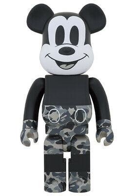 $1499 • Buy BE@RBRICK BAPE(R) MICKEY MOUSE 2020 MONOTONE Ver 1000% NEW From JPN [NEW]