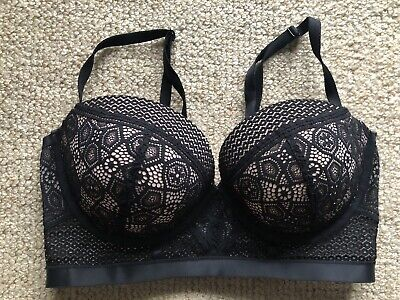 AU30 • Buy BRAS N THINGS Very Sexy Black Lace Bra Size 14D Excellent Condition