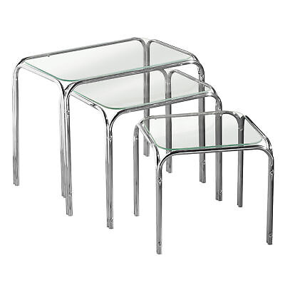 Maison By Premier Nest Of 3 Clear Glass Pointed Oval Tables Set Of 3 • 49.01£