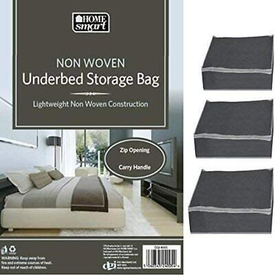 Home Smart Folding Non Woven Lightweight Underbed Storage Bag Foldable Zip Box  • 2.89£