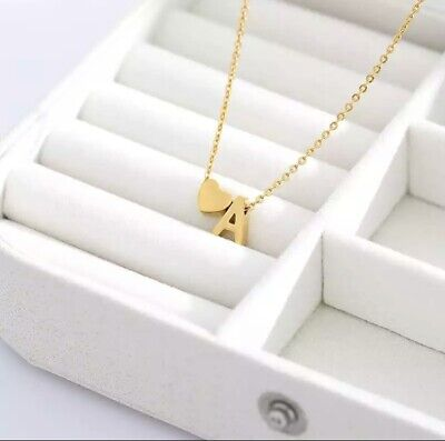 £2.99 • Buy Women's Girls Personalised Initial Name Alphabet Letter Necklace Gold Plated A-Z