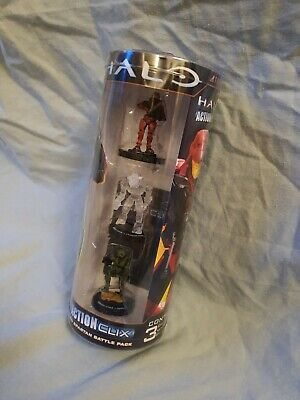 Halo Action Clix ActionClix Red Spartan Battle Pack With Stealth Elite Figures • 5£
