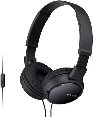 Sony MDR-ZX110AP OVER EAR SOUND MONITORING HEADPHONES WITH SMARTPHONE MIC BLACK • 13.75£