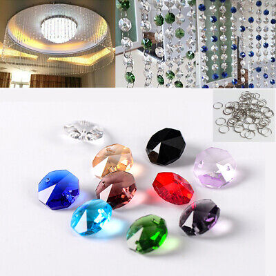 £6.29 • Buy Chandelier Light Crystal Glass Beads Color Droplets Lamp Kit W/ Ring Ceiling Dec