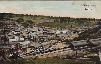 General View Over Yeovil, Somerset : Postcard (1906) • 4.99£