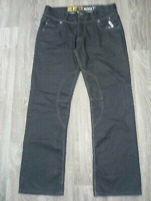 ZE, Enzo, Mens Top Quality Stylish Raw Denim Jeans Size 34R Good Condition • 9.50£