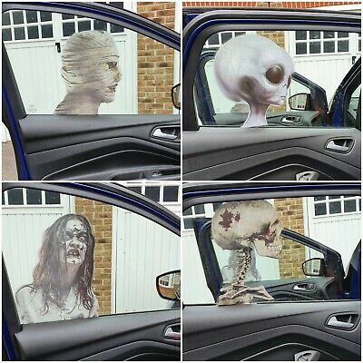 HALLOWEEN Car Window Pretend STICKERS DECORATION SCARY PARTY DECAL IT Bumper • 2.49£