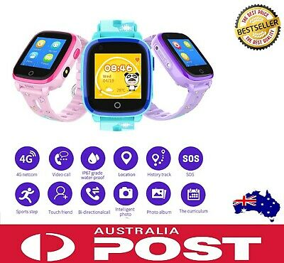 AU119 • Buy Kids 4G Smart Watch For Samsung Android IPhone IOS Anti-lost GPS Tracker Pink AU