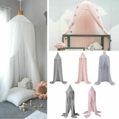 Kids Baby Bed Canopy Mosquito Net Bedcover Curtain Dome Tent Bedroom Netting  • 20.99£