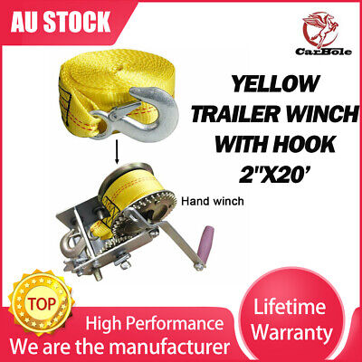 AU26.99 • Buy Heavy Duty Tow Strap 2 X 20' Rope Car Boat Trailer 10000LBS Max Towing Recovery