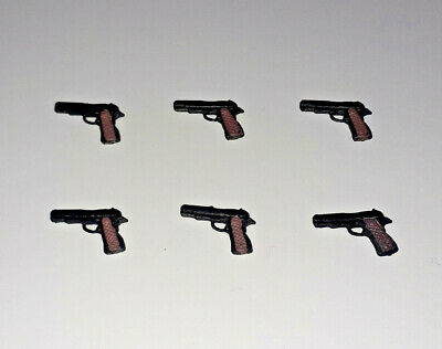 $ CDN13.08 • Buy 6 X PISTOL Action Figure ACCESSORY LOT Custom Fodder 1:18 Star Wars GI Joe