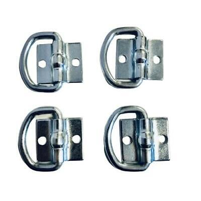AU20 • Buy 4x Lashing D Ring Zinc Plated Tie Down Points Anchor Ute Trailer