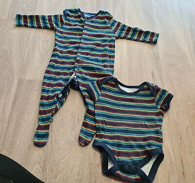 Baby Boys Sleepsuit And Vest 3-6 Months • 2.25£