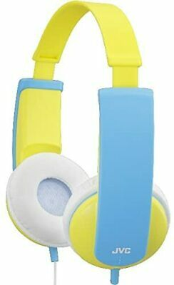 JVC TINY PHONE KIDS STEREO HEADPHONE YELLOW Volume Limiter Yellow/Blue HAKD5Y • 21.72£