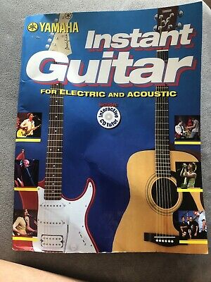 Yamaha Instant Guitar For Electric And Acoustic Book WITHOUT CD • 2.80£