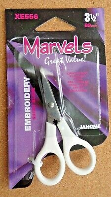 Janome Marvels Embroidery Micro 3.5 Inch Scissors Short Blade XE556 • 2.85£