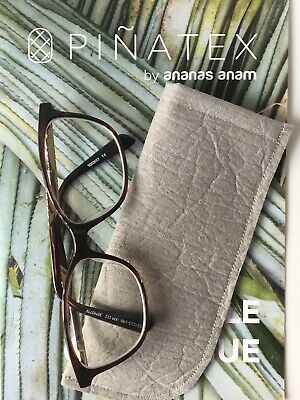 Slim SunGlasses Spectacles Case Pouch Handmade Glasses Grey Vegan Eco Leather • 1.10£