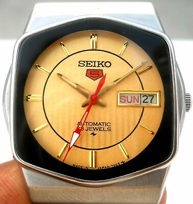 $ CDN57.09 • Buy Vintage Japan Seiko 5 Automatic Golden Classic Day Date Mens Watch