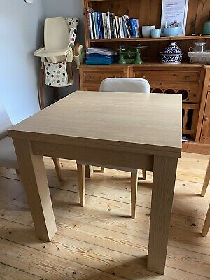 NEXT LIGHT OAK DINING ROOM Extending Table. Seats 4 To 8 Good Used Condition. • 100£