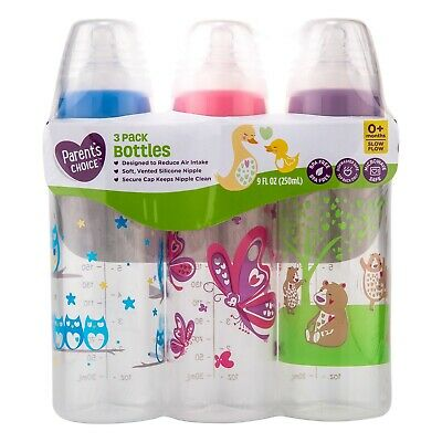 £8.16 • Buy Parent's Choice Baby Bottles Designed To Reduce Air Intake 9 Fl Oz - 3 Count