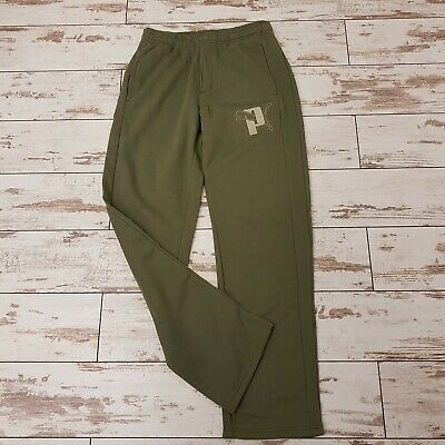 Men's Puma Gym Running Tracksuits Bottoms Joggers In Green • 24.99£
