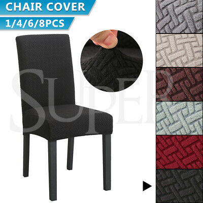 AU42.99 • Buy 1/4/6/8 PCS Dining Chair Covers Spandex Slip Cover Stretch Wedding Banquet Party