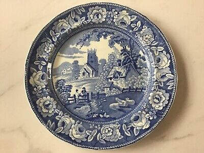Antique - PEARLWARE - BLUE & WHITE - DINNER PLATE  - As Found • 10£