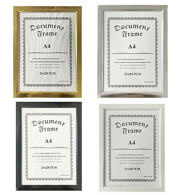 A4 PHOTO FRAME 4 PACK Picture Certificate Poster Frame Home Decor GM2638OB UK • 11.50£