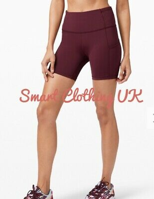 "$ CDN86.16 • Buy Lululemon Women's Fast And Free HR Shorts 6""  (Cassis)     RRP £68"