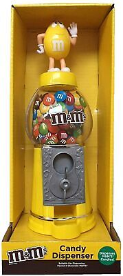M&M Chocolate Candy Dispenser Machine And Money Bank Kids Gift Kids Toy Yellow  • 19.99£