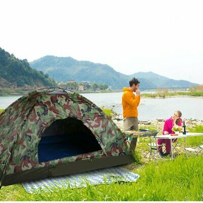 £20.96 • Buy 2 Man Pop Up Two Person Dome Tent Waterproof Outdoor Camouflage Camping Tent UK
