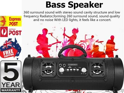 AU39.24 • Buy Portable Wireless Bluetooth Speakers Stereo Subwoofer TF USB AUX FM Boombox AU