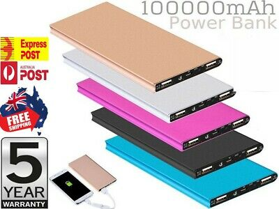 AU23.75 • Buy 100000mAh Power Bank Universal USB Fast Charge Battery Charger 4 Samsung IPhone