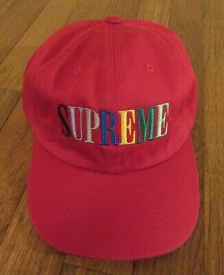 $ CDN146.66 • Buy Supreme Multi Color Logo 6-Panel Cap Hat Red FW20 Supreme New York 2020 New DS
