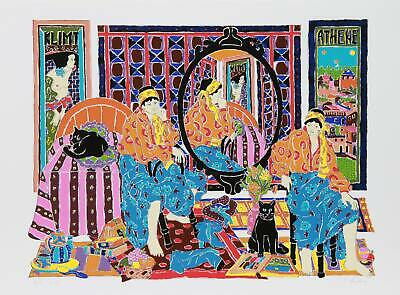 $ CDN928.14 • Buy Estelle Ginsburg, Klimt, Screenprint, Signed And Numbered In Pencil