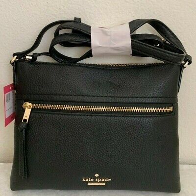 $ CDN134.04 • Buy NWT Kate Spade Jackson Street Gabriele Leather Crossbody Bag Black PXRU7922