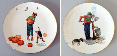 $ CDN24.64 • Buy 2 Norman Rockwell Collector's Plates 1977 Lmtd Edition 10.5