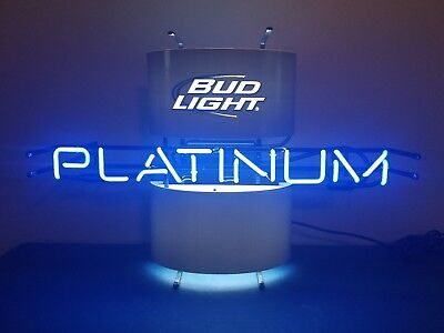 $ CDN227.88 • Buy (l@@k) Bud Light Platinum Beer Neon Light Up Sign Game Room Anheuser Busch New