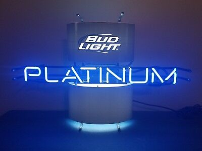 $ CDN224.59 • Buy (l@@k) Bud Light Platinum Beer Neon Light Up Sign Game Room Anheuser Busch New