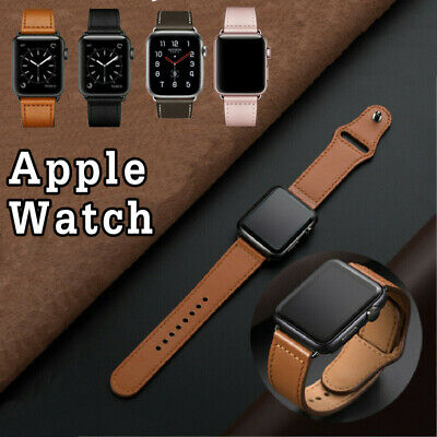 AU10.99 • Buy Leather Strap For Apple Watch Band IWatch Series 5 4 3 2 1 38 40 42 44mm