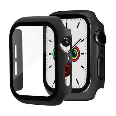 $ CDN8.53 • Buy Case For Apple Watch Series 4/5/6 And Watch SE 44mm Screen Protector Cover Black